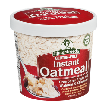 Glutenfreeda Instant Oatmeal Cranberry Apple with Walnuts & Cinnamon