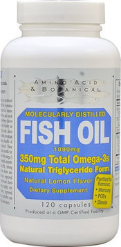 Amino Acid Botanical Amino Acid & Botanical - Omega-3 Fish Oil Lemon - 120 Capsules