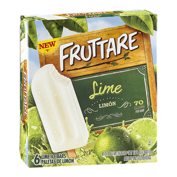 Fruttare Ice Bars Lime - 6 CT