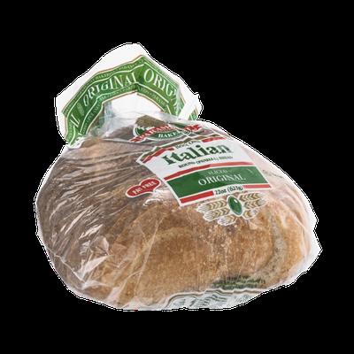 Paramount Bakeries Brick Oven Italian Round Bread Original Sliced