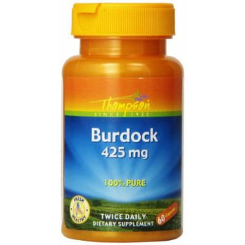 Thompson Burdock Root, 425 Mg, 60 Capsules, (Pack of 3)