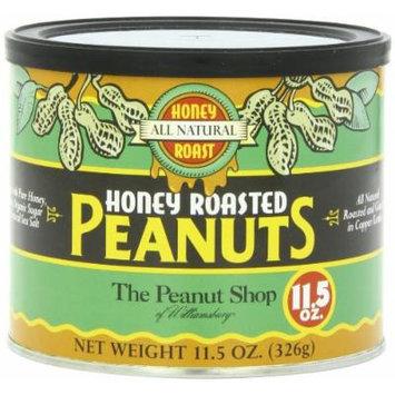 The Peanut Shop of Williamsburg All Natural Honey Roasted Peanuts, 11.5-Ounce Tin