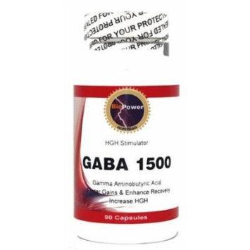 Gaba 1500 # 180 Capsules 1500mg Gaba # Gamma Aminobutyric Acid Amino Acid - Promote Relaxation and Lean Musce - BioPower Nutrition (2 Bottles)