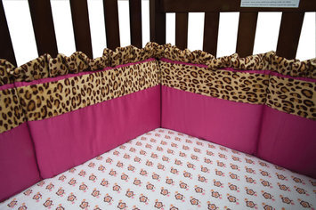 Test Trend Lab Berry Leopard Crib Bumpers Pink/Multi