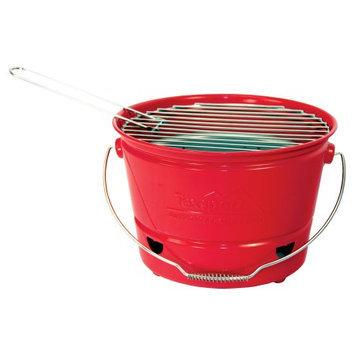 Texsport EZ Charcoal BBQ Bucket Grill Red