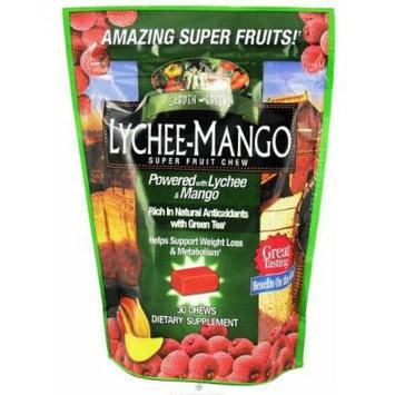 Garden Greens Lychee-mango Super Fruit Chew 30 Chews - 2 Packs