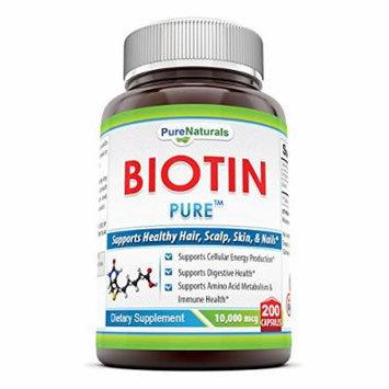 Pure Naturals - Biotin - Maximum Strength - 10000 mcg - 200 capsules