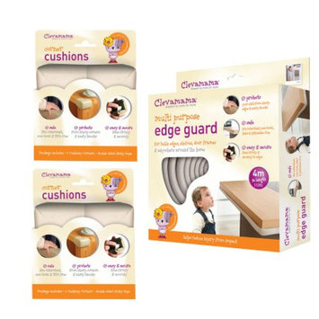 Clevamama Baby Home Safety Edge Guard & Corner Cushions Set, 1 ea
