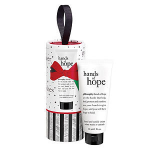 philosophy hands of hope ornament