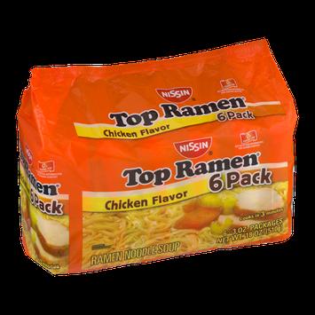 Nissin Top Ramen Noodle Soup Chicken Flavor - 6 PK
