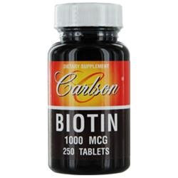 Carlson Labs - Biotin 1000 mcg. - 250 Tablets