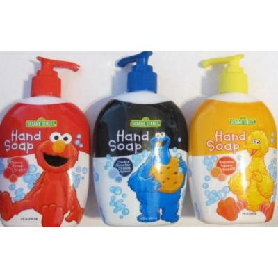 3 Sesame Street Hand Soaps, Elmo, Cookie Monster & Big Bird
