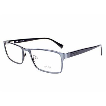 Police eyeglasses V 8840 N 0S93 Metal Brushed Grey - Grey
