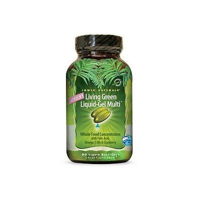 Irwin Naturals Women's Living Green Liquid-Gel Multi Soft-Gels 90 liquid softgels