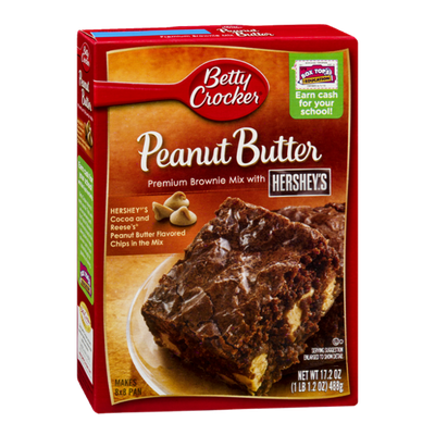 Betty Crocker Peanut Butter Brownie Mix With Hershey's