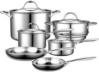 Neway International Neway NC00210 Multi-Ply Clad Stainless-Steel 10-Piece Cookware Set