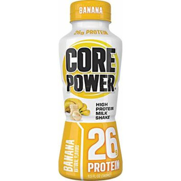 Core Power High Protein Milk Shake, Banana, 26g of protein, 11.5-ounce bottles,12 Count