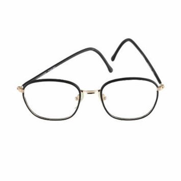 High Fashion Young Peoples Eyeglasses Black Square Frame 51-18 Made in Italy