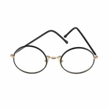 High Fashion Young Peoples Eyeglasses Black Round Frame 48-20 Made in Italy