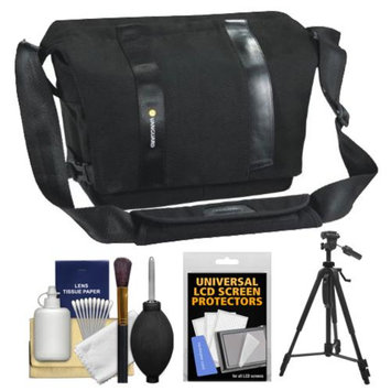 Vanguard Vojo 22 Digital SLR Camera Shoulder Bag (Black) with Tripod + Cleaning Kit