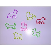 Glow Bands Glow Rubber Fun Bands - Dogs, 12 Pack