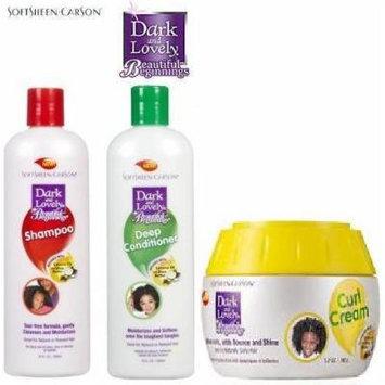 Dark and Lovely Kids Beautiful Beginnings TRIO SET (Shampoo, Curl Cream, Deep Conditioner) Plus 1 Free of Apple EYE Pencil Color: Grey