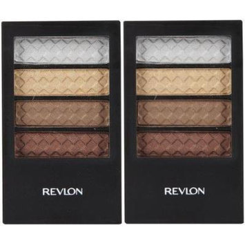 Colorstay 12 Hour Eye Shadow Quad (317) PRICELESS METALS (PACK OF 2 Palettes QUADS) BY REVLON