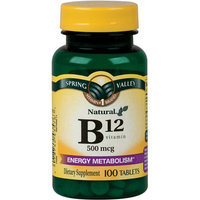 Spring Valley Natural Vitamin B12 Tablets