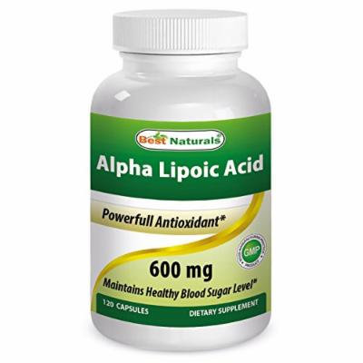 Best Naturals Alpha Lipoic Acid 600 mg Capsules, 120 Count