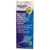 Equate Hydrogen Peroxide Cleaning and Disinfecting Lens Care System, 12oz, Compare to Clear Care
