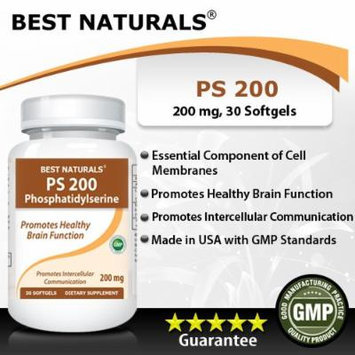 Best Naturals, PS 200 -- phosphatidylserine 200mg, 30 Softgels