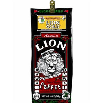 Hawaiian Lion Gold Coffee Ground Decaf 10 oz. Bag by Lion Coffee