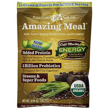 Amazing Grass Amazing Meal Café Mocha, Box of 10 Individual servings, 0.99 Ounces