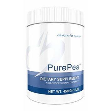 Designs for Health Purepea Pea Protein Powder, Unflavored, 450 Gram