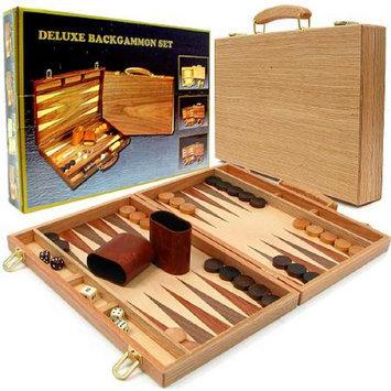 Trademark Games Deluxe Wooden Backgammon Set