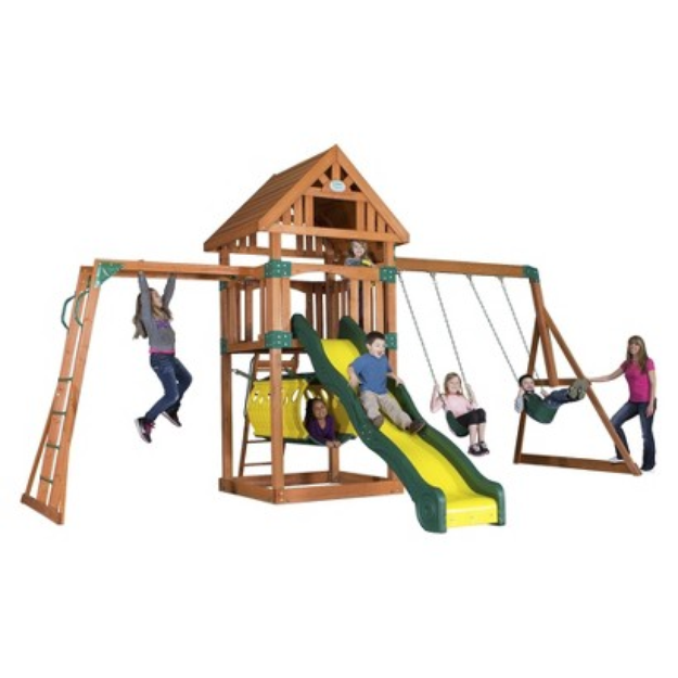 Backyard Discovery Capitol Peak All Cedar Swingset