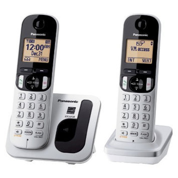 Panasonic DECT 6.0 Plus Cordless Phone System (KX-TGC212S) with 2