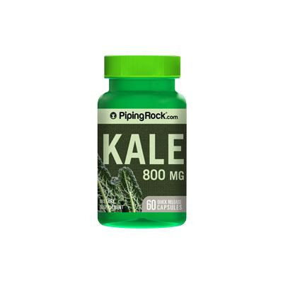 Kale 800 mg 60 Capsules Supplement