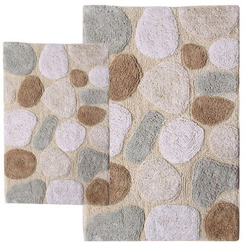 Chesapeake 2 Pc. Pebbles Bath Rug Set