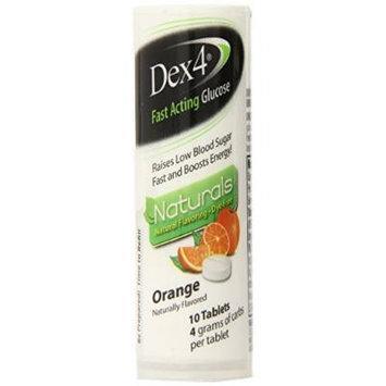 Dex4 Glucose Tablets, Natural Orange, 10 Count(Pack of 6)
