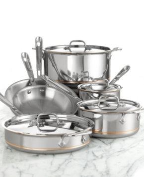 All Clad Copper Core 10pc Cookware Set