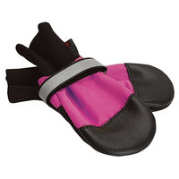 Muttluks, Inc. Muttluks Fleece Lined 4.25-Inch to 4.75-Inch Dog Boots, X-Large, Pink, Set of 4