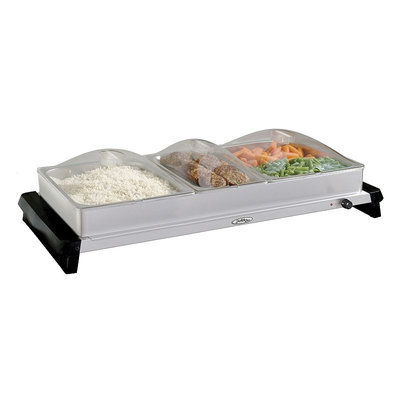 Broilking Professional Family Size Buffet Server with Clear Lids