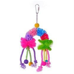 Prevue Hendryx Calypso Creations Over The Rainbow Medium Bird Toy