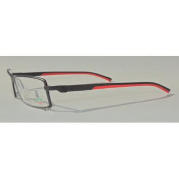 Tag Heuer Automatic Rimmed 0802 Prescription Eye Glasses 012 Mat Black/black/red