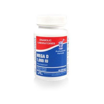 Anabolic Laboratories, Vitamin D3 1000iu, 3 Bottles of Mega D, 100 Softgels (3 Bottles Is One Order=300 Softgels)
