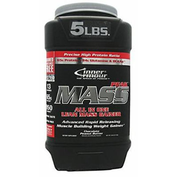 Inner Armour Mass Peak All in One Lean Mass Gainer, Chocolate Peanut Butter, 5 Pound