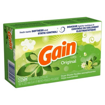 Gain Original Dryer Sheets - 120 Count