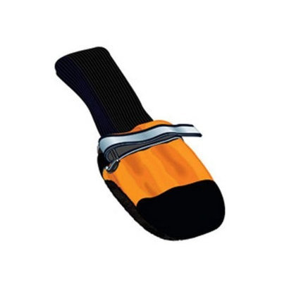 Muttluks Fleece Lined Dog Boots, Orange, Set of 4