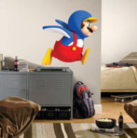 Global Holdings Inc Super Mario Penguin Mario Peel & Stick Wall Decal